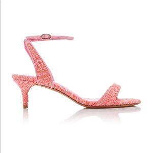 Alexandre Birman willow tweed mini heel sandals